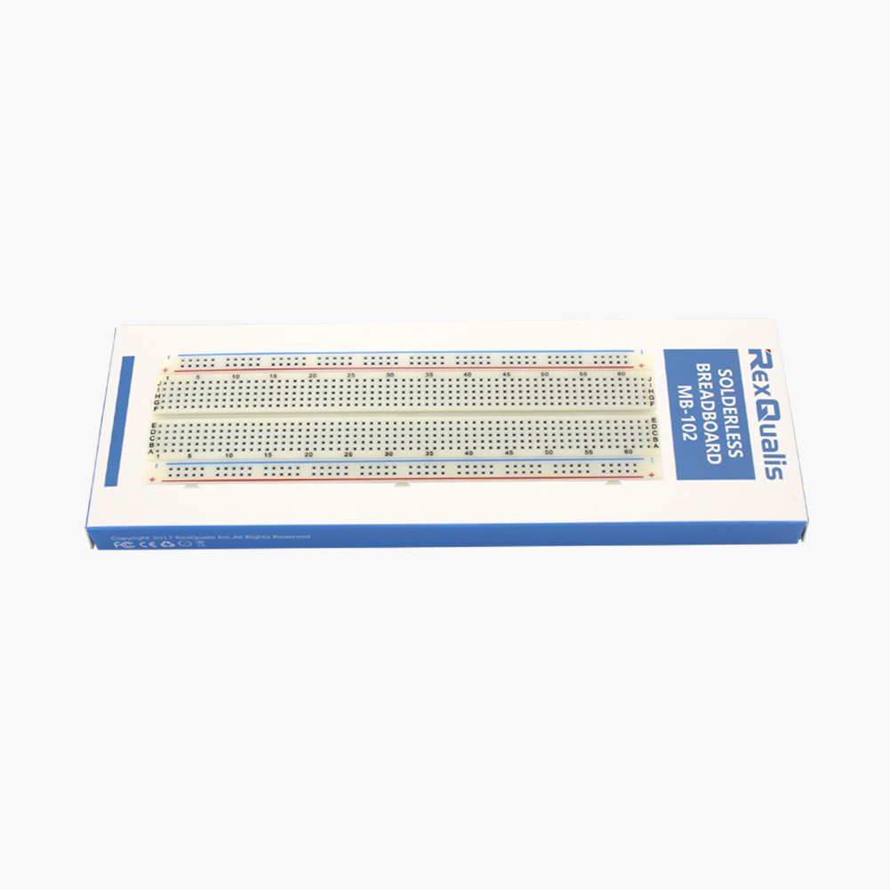 Mb 102 830 Point Solderless Breadboards For Arduino Rexqualis Transparent Breadboard Showing The Metal Strips Tie