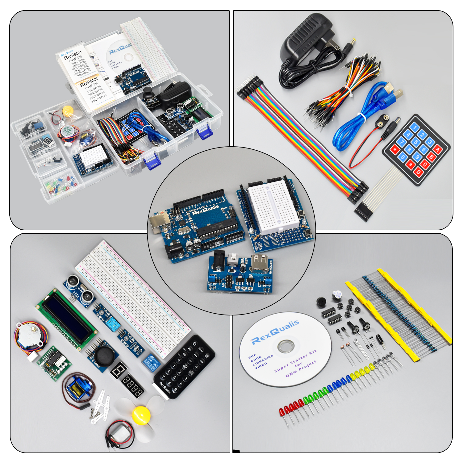 UNO Project Super Starter Kit for Arduino w/ UNO R3 Development Board,  Detailed Tutorial - Rexqualis Industries,Ingenious & fun DIY electronics  and
